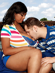 Hot and fat Kristina Milan with lucky guy