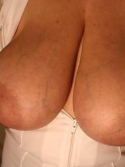 Mystery german blonde with huge breasts 38KK