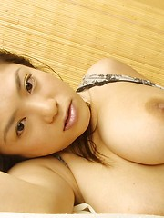 Naughty Anna likes to get naked and flash her big tits