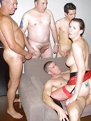 Horny lara latex licking big hard balls and stiff cocks