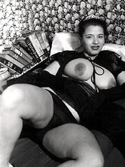 Seventies ladies showing their natural knockers