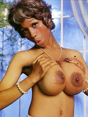 Sylvia McFarland showing her big natural breasts