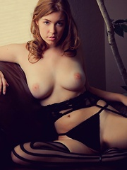 Dannie is huge natural boobs wife gangbang