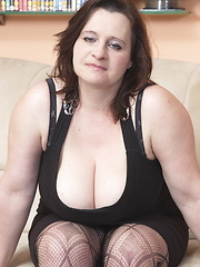 Big breasted mama sucking and fucking hard