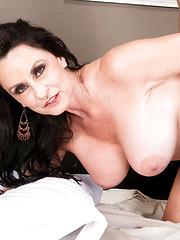 Hot mature Rita Daniels dominates the young guy