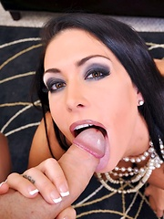 Smooth Operator Pics - Blowjob queen Jessica Jaymes gets a shower of cum