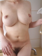 Amateur big titted asian milking her natural tits