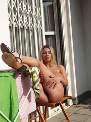 Katarina masturbate on Balcony