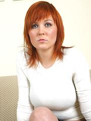Ania Colette hot redhead Sofa