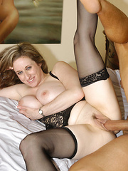 HUGE knockers on this juggie babe as she sucks out a big load!