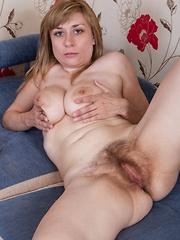 Nira gets comfy in hirsute porn